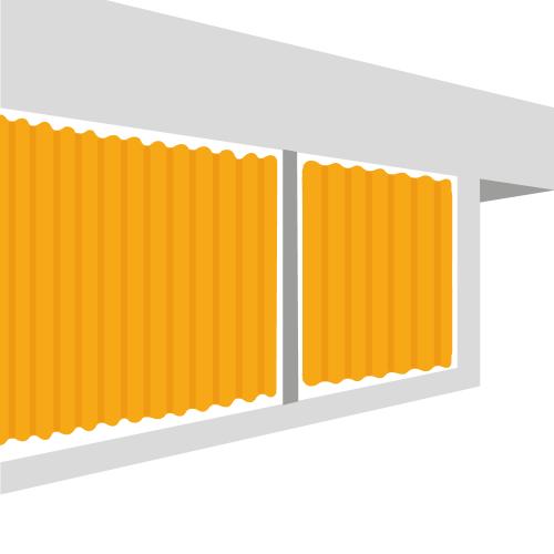 Lonas tipo cortina para toldos